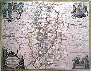 Antique map of Notts