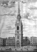 ANTIQUE PRINT: BOW CHURCH.