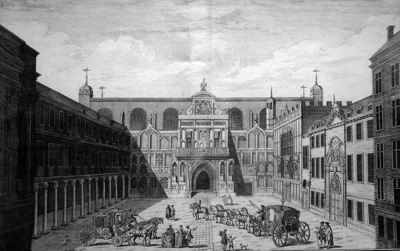 ANTIQUE PRINT: [THE GUILDHALL] A VIEW OF THE GUILD HALL OF THE CITY OF LONDON.