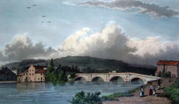 ANTIQUE PRINT: STRAMMONGATE BRIDGE, KENDAL.