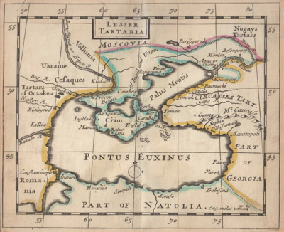 ANTIQUE MAP : [MAP OF CRIMEA] LESSER TARTARIA.