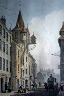 ANTIQUE PRINT: [EDINBURGH] THE CANONGATE TOLBOOTH.