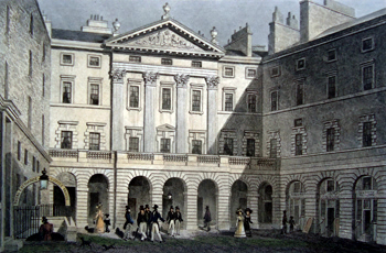 ANTIQUE PRINT: ROYAL EXCHANGE, HIGH STREET. EDINBURGH.