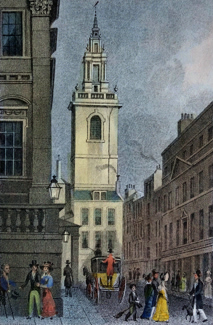 Antique print of St. Stephen Walbrook