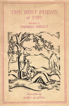 MOULT, Thomas, 1885-1974 – editor : THE BEST POEMS OF 1929.
