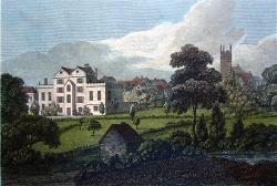 ANTIQUE PRINT: PART OF WARWICK.