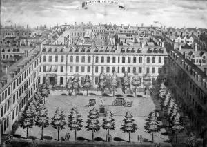 ANTIQUE PRINT: DEVONSHIRE SQUARE.