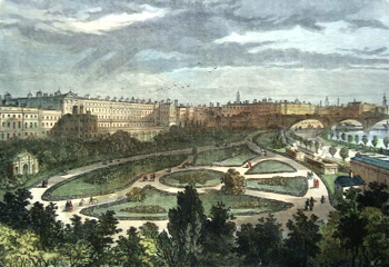 Antique print of the Embankment