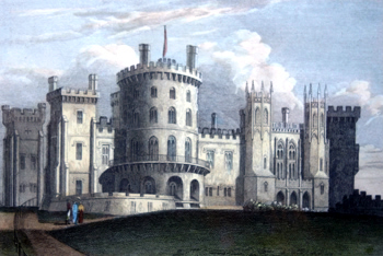 ANTIQUE PRINT: BELVOIR CASTLE, LEICESTERSHIRE. THE SEAT OF THE DUKE OF RUTLAND.