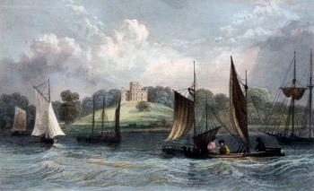 Antique print of Grays, Essex