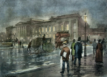 ANTIQUE PRINT: THE GENERAL POST OFFICE – NIGHT.
