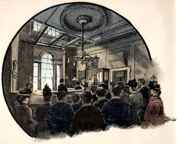 ANTIQUE PRINT: MANSION HOUSE POLICE COURT.
