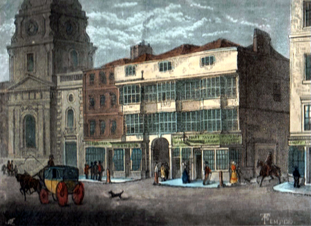 "ANTIQUE PRINT: THE ""WHITE HART,"" BISHOPSGATE STREET, IN 1810."