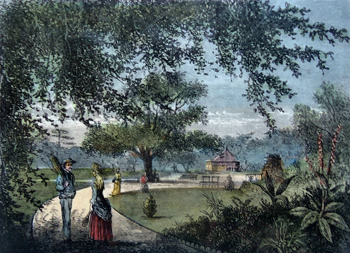 Antique print of West Ham