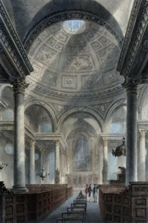 ANTIQUE PRINT: ST. STEPHEN'S WALBROOK.