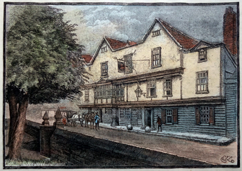 Antique print of Chigwell