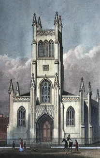 ANTIQUE PRINT: ST. MARK THE EVANGELIST, PENTONVILLE.
