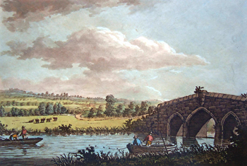 ANTIQUE PRINT: [RADCOT] RADCOTE-BRIDGE, FARRINGDON-HILL &C.