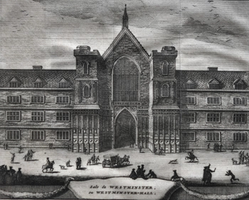ANTIQUE PRINT: SALE DE WESTMINSTER, OU WESTMINSTER-HALL.