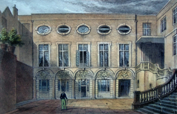 ANTIQUE PRINT: BREWERS' HALL, ADDLE STREET.