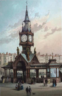 ANTIQUE PRINT: THE AQUARIUM, BRIGHTON.