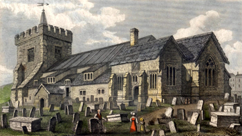 ANTIQUE PRINT: ST. NICHOLAS'S CHURCH BRIGHTON.