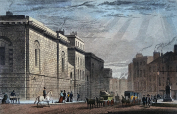 Antique print of the Old Bailey
