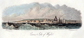 ANTIQUE PRINT: COWES, ISLE OF WIGHT.
