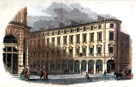 ANTIQUE PRINT: ROYAL EXCHANGE BUILDINGS.