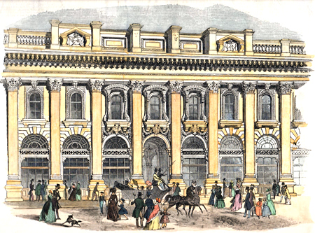 ANTIQUE PRINT: [ROYAL EXCHANGE] THE NEW ROAAL [sic] EXCHANGE. – THE SOUTH ENTRANCE.