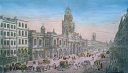 ANTIQUE PRINT: [ROYAL EXCHANGE] VUE DE LA BOURSE ROYALE A LONDRES.