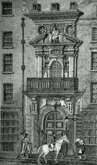 ANTIQUE PRINT: MERCERS HALL, CHEAPSIDE.