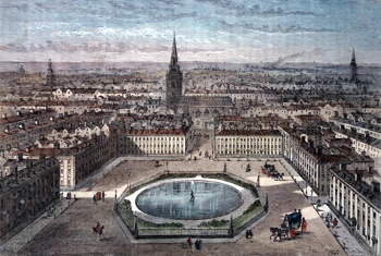 Antique print of St. James's Square