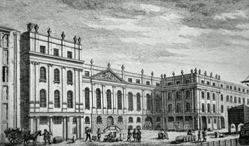 ANTIQUE PRINT: CUSTOM HOUSE.