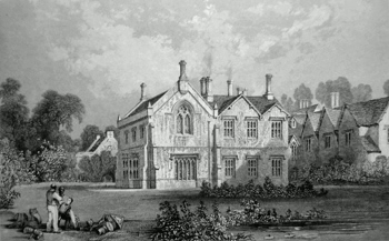 ANTIQUE PRINT: SCRIVELSBY HALL, LINCOLNSHIRE.