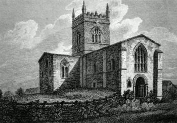 ANTIQUE PRINT: STOW CHURCH, LINCOLNSHIRE.