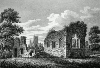 ANTIQUE PRINT: MONKS HOUSE, LINCOLN.