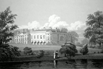 ANTIQUE PRINT: DENTON HOUSE, LINCOLNSHIRE.