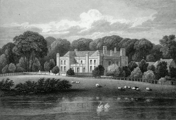 ANTIQUE PRINT: WISTOW HALL. LEICESTERSHIRE.