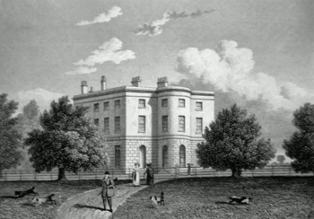 ANTIQUE PRINT: WHATTON HOUSE, LEICESTERSHIRE.