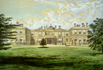 ANTIQUE PRINT: SWITHLAND HALL.