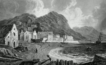 ANTIQUE PRINT: ABERMAW, OR BARMOUTH, MERIONETHSHIRE.