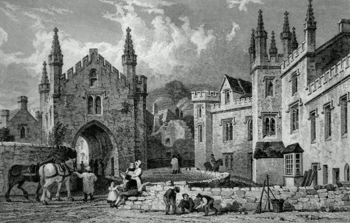 Antique print of Tavistock