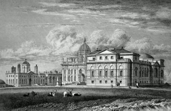 ANTIQUE PRINT: CASTLE HOWARD. (NORTH WEST VIEW) YORKSHIRE. THE SEAT OF THE EARL OF CARLISLE.