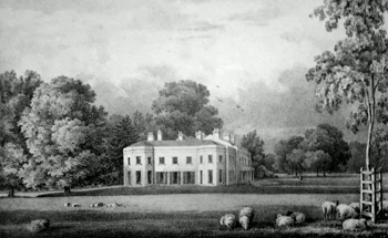 Antique print of Chipstead, Surrey