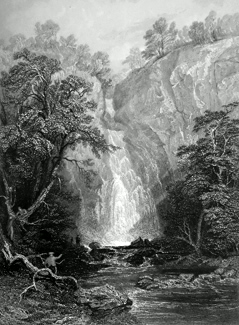 ANTIQUE PRINT: CALDRON LINN. (PERTHSHIRE.)