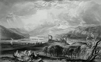 ANTIQUE PRINT: INVERLOCHY.