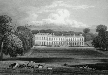 ANTIQUE PRINT: BOUGHTON HOUSE, NORTHAMPTONSHIRE.