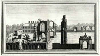 ANTIQUE PRINT: VIEW OF HOLDENBY PALACE IN NORTHAMPTONSHIRE.