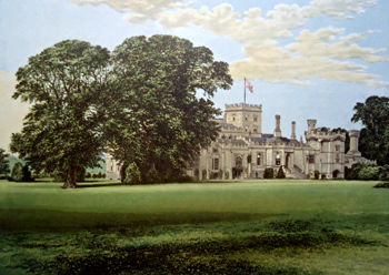 ANTIQUE PRINT: ELTON HALL.